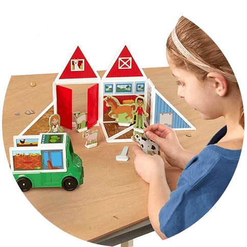 Melissa and Doug 			Magnetivity On The Farm Building Set