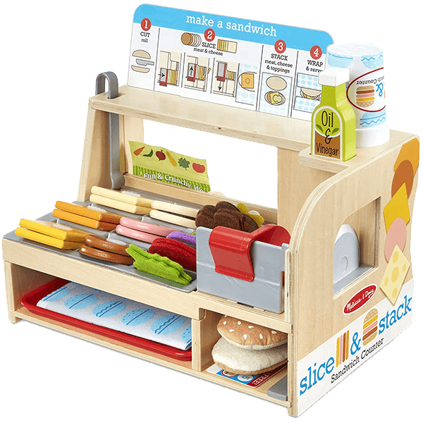Melissa and Doug Slice and Stack Sandwich Counter