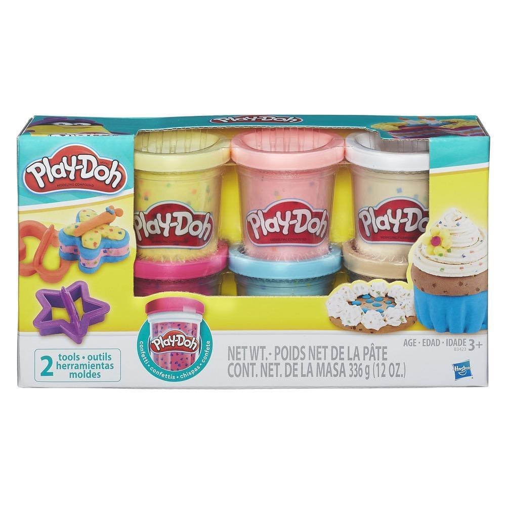 Discontinued Play-Doh Confetti Compound 6 Piece Collection