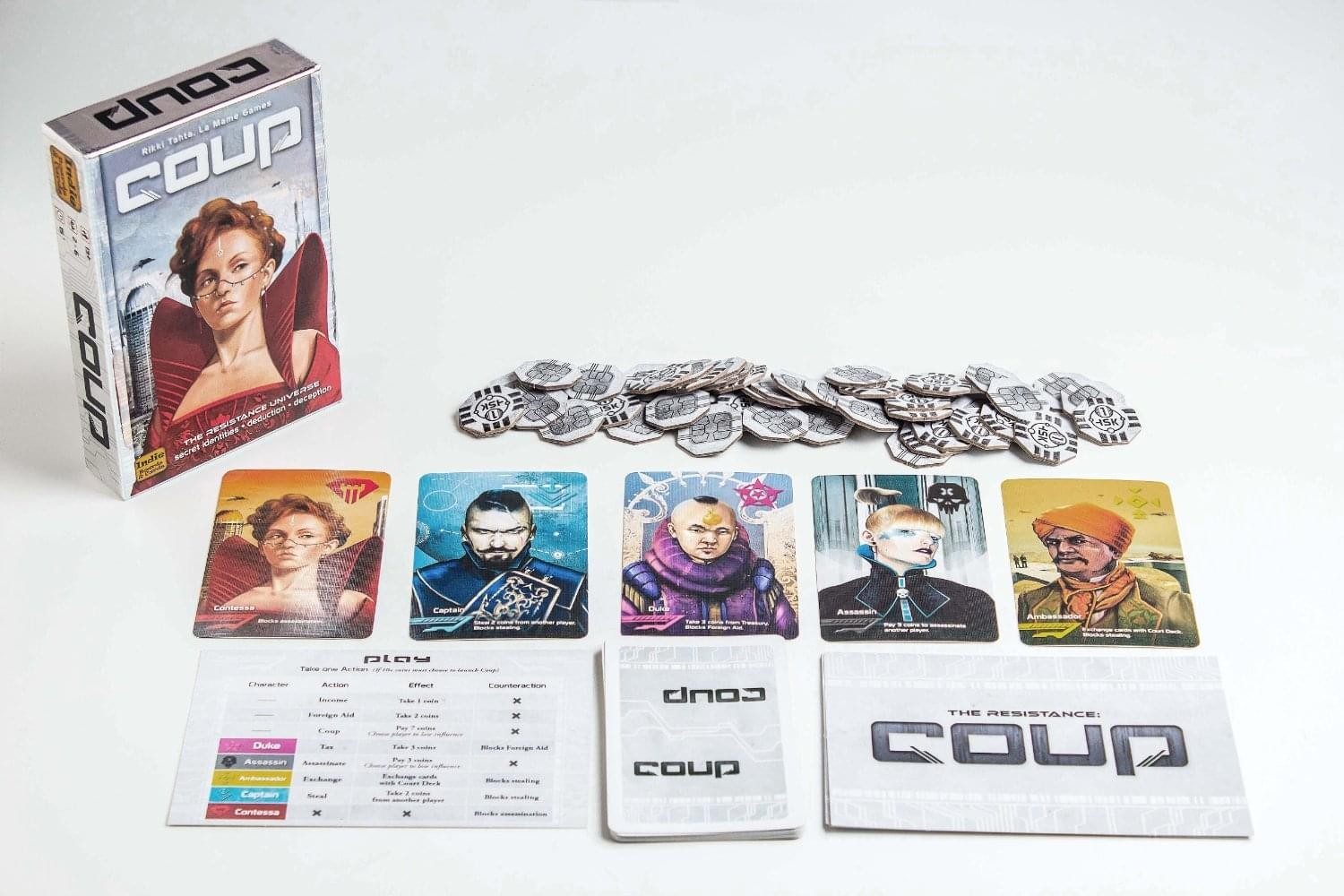 Discontinued Coup Card Game