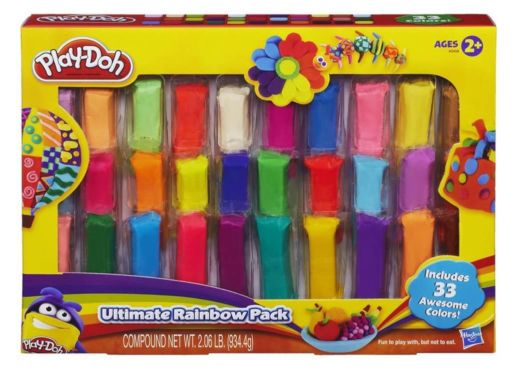 Discontinued Play-Doh 33 Piece Ultimate Rainbow Pack