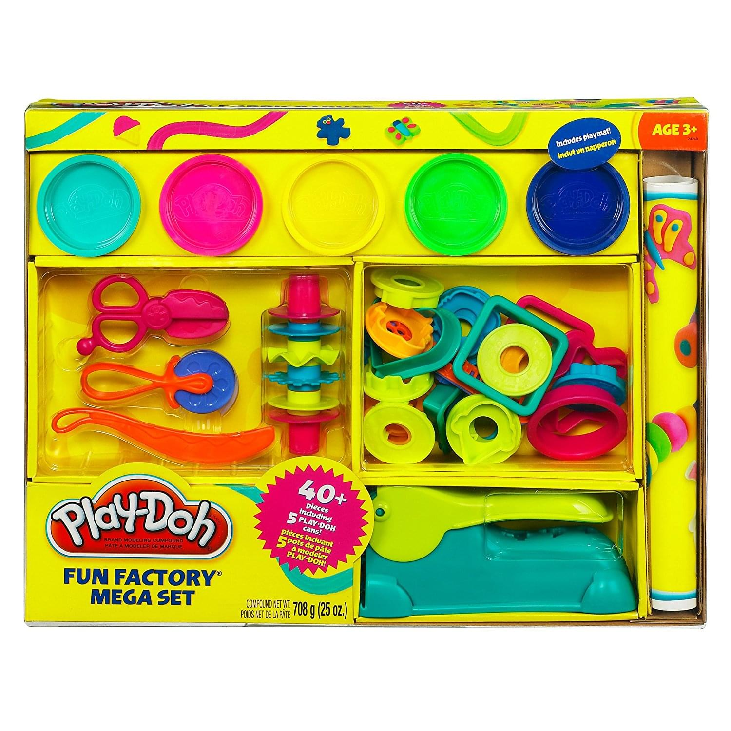 Discontinued Play-Doh Fun Factory Mega Set