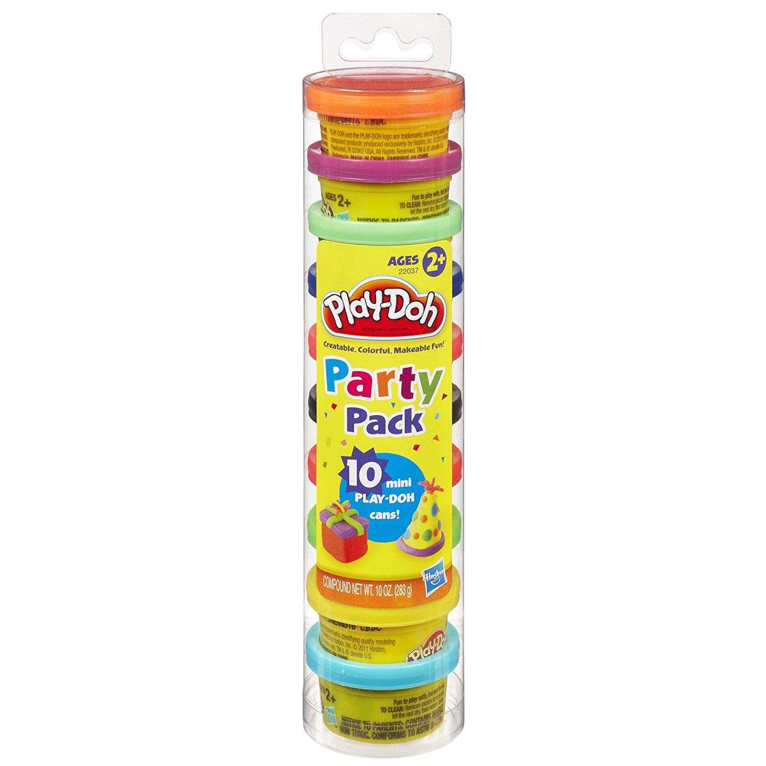Play-Doh 10 Piece Mini Party Pack in a Tube