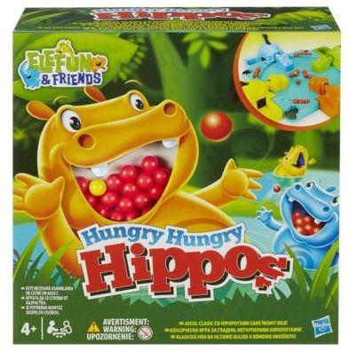 Discontinued Hasbro Hungry Hungry Hippos Board Game