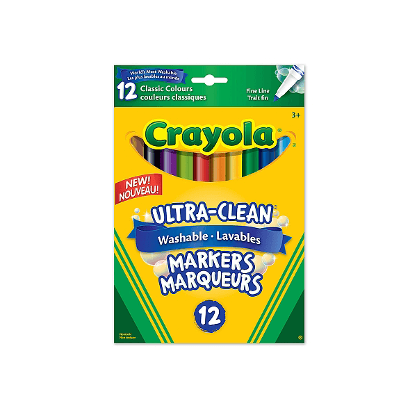Crayola Washable Fine Line Markers 12 Count