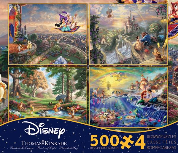 Thomas Kinkade Disney Dreams 4 in 1 Multipack 500 Piece Puzzle