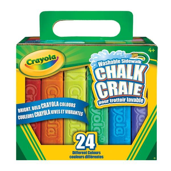 Discontinued Crayola 24 Washable Sidewalk Chalk