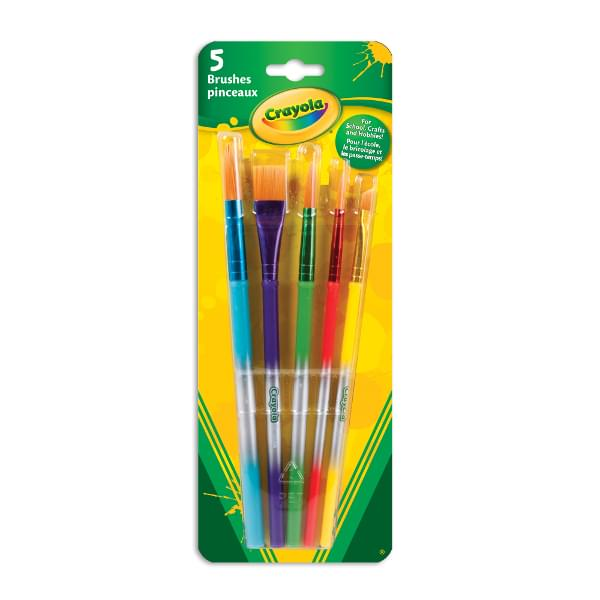 Crayola Paint Brushes 5 Pack