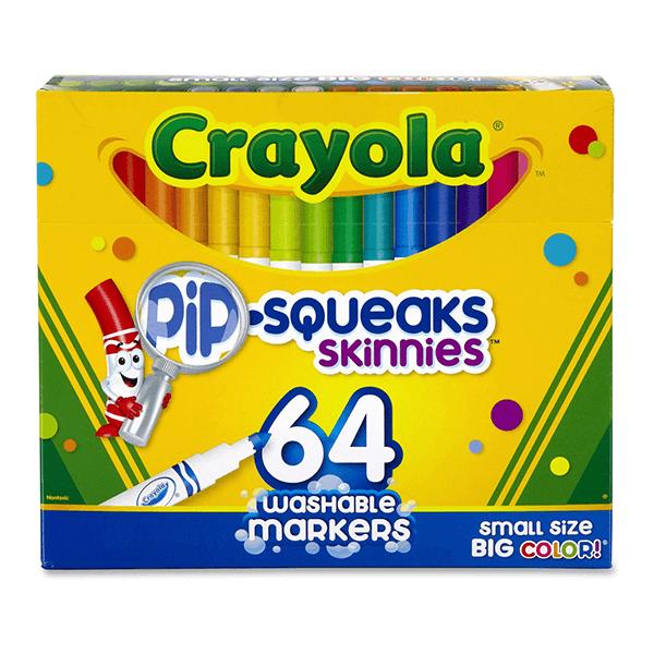 Crayola Pip-Squeaks Skinnies Markers 64 Count