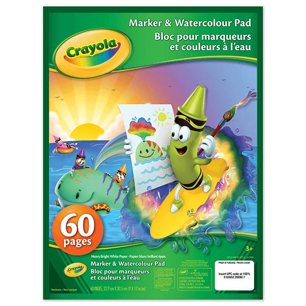 Crayola Marker & Watercolour Pad 60 Sheets