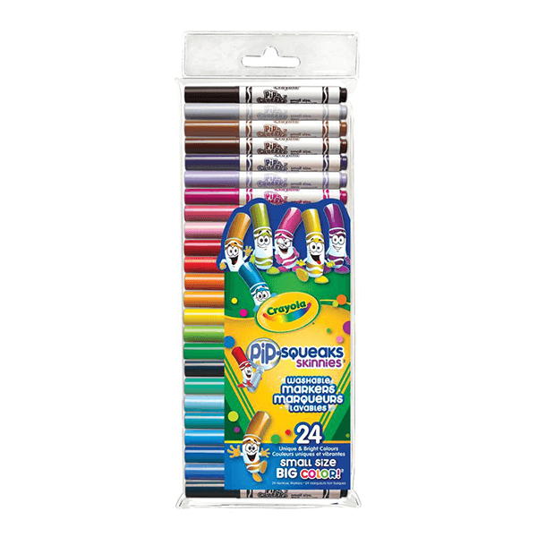 Crayola Pip-Squeaks Skinnies 24 Count Washable Markers