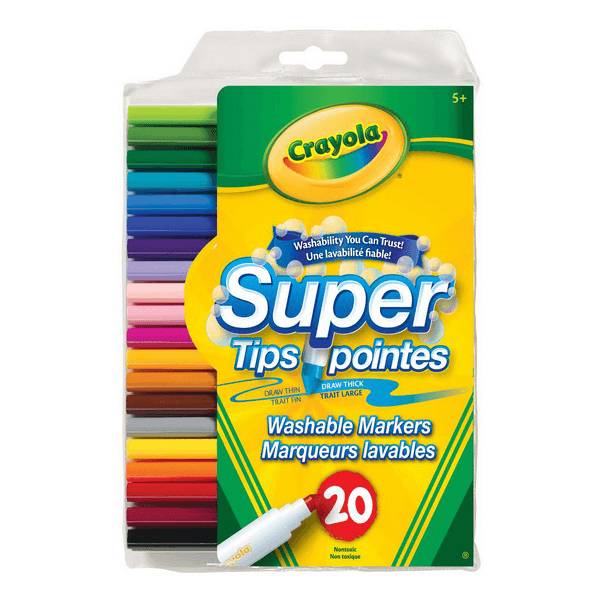 Crayola Super Tips 20 Count Washable Markers