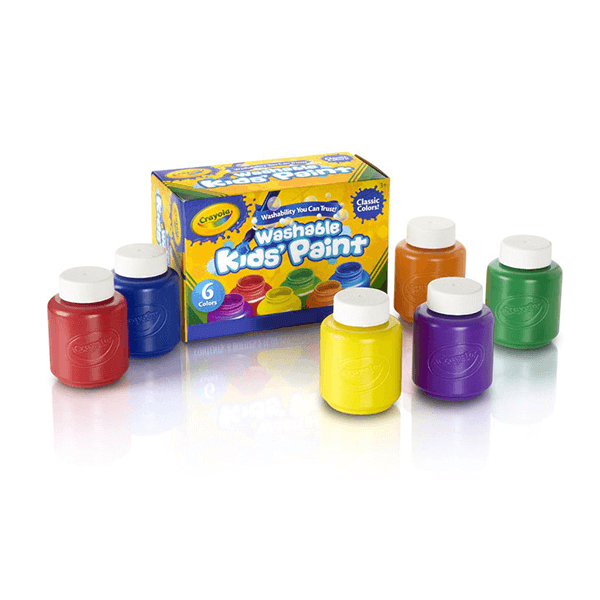 Crayola Washable Kids Paint 6 Count 57mL Jars