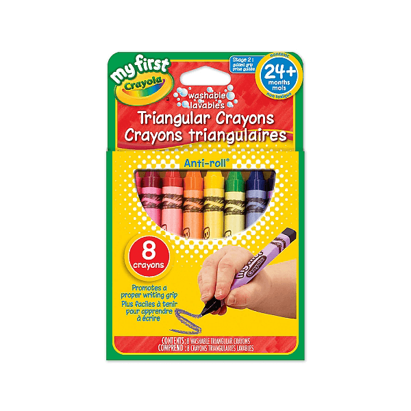 My First Triangular Crayons 8 Count