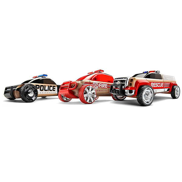 Discontinued Automoblox Mini Emergency Playset (3-Pack)