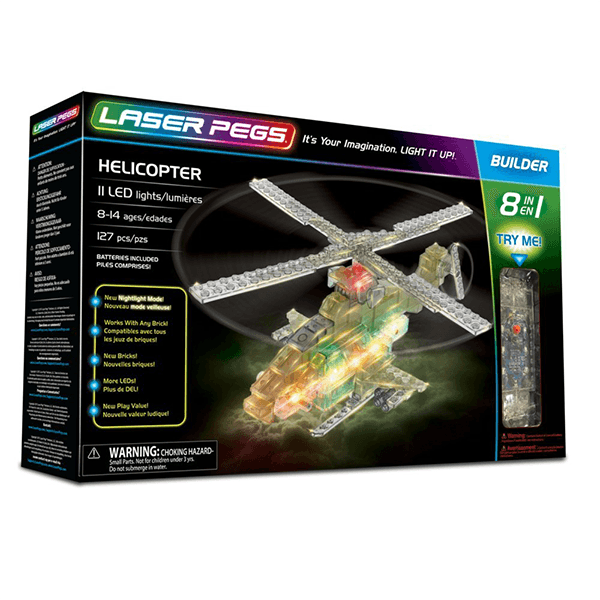 Laser Pegs 8-in-1 Helicopter Kit