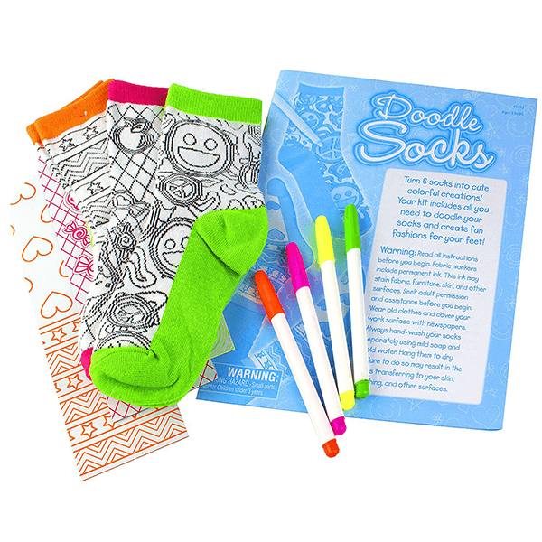 Creativity for Kids Doodle Socks Kit