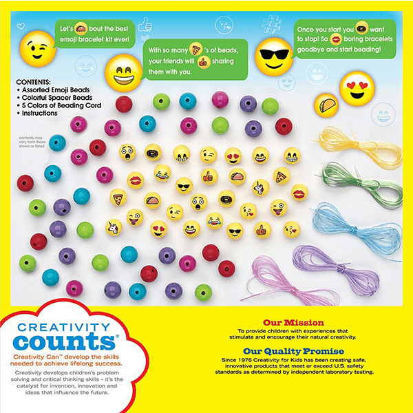 Creativity for Kids Emoji Bead Bracelet Craft Kit