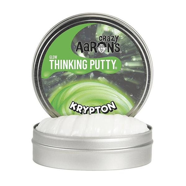 Crazy Aaron's Krypton Green Glow In The Dark Thinking Putty