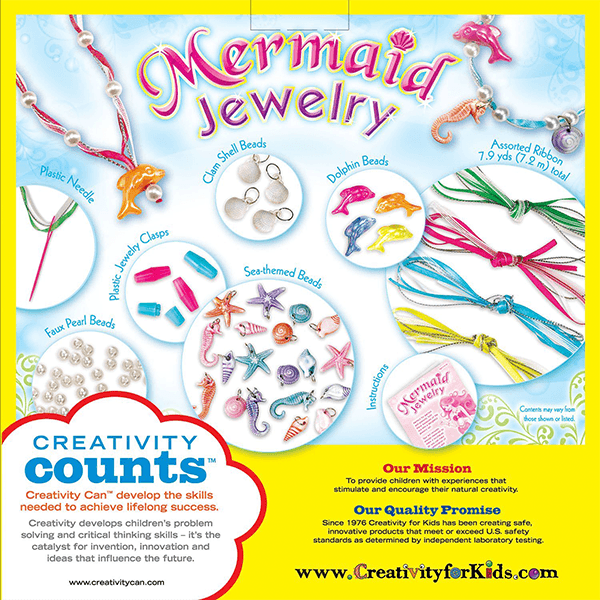 Creativity for Kids Mermaid Jewelry Kit