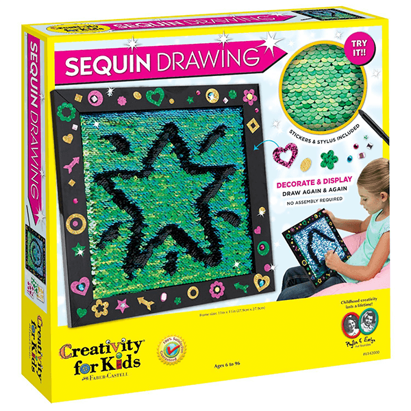 Creativity for Kids Sequin Drawing Board Kit