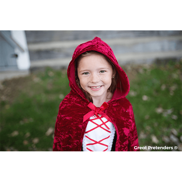 Great Pretenders Little Red Riding Hood Cape (Size 5-7)