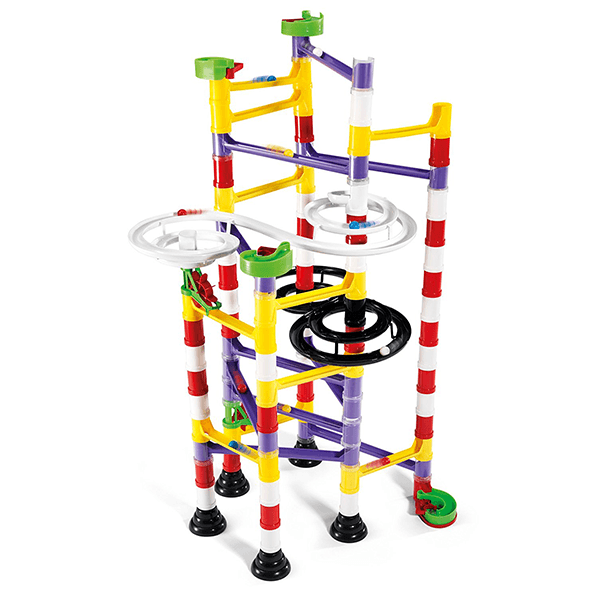 Quercetti 111 Piece Double Spiral Marble Run