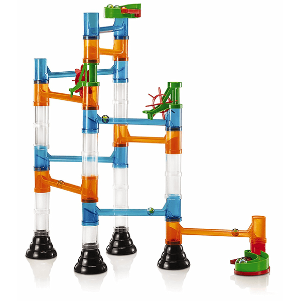 Quercetti Transparent 45 Piece Marble Run