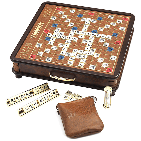 brown tan  SCRABBLE GAME BOARD  ONLY