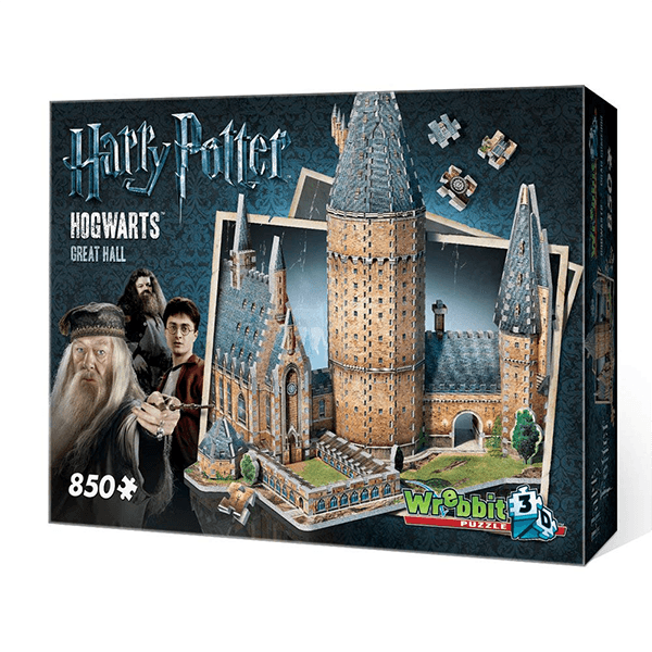 Wrebbit 3D Harry Potter Hogwarts Great Hall Jigsaw Puzzle 850 Piece