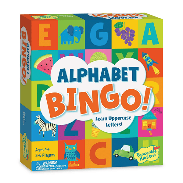 Peaceable Kingdom Alphabet Bingo Board Game