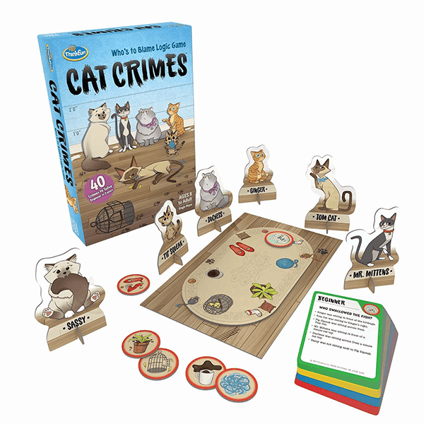 Thinkfun Cat Crimes Logic & Brainteaser Game