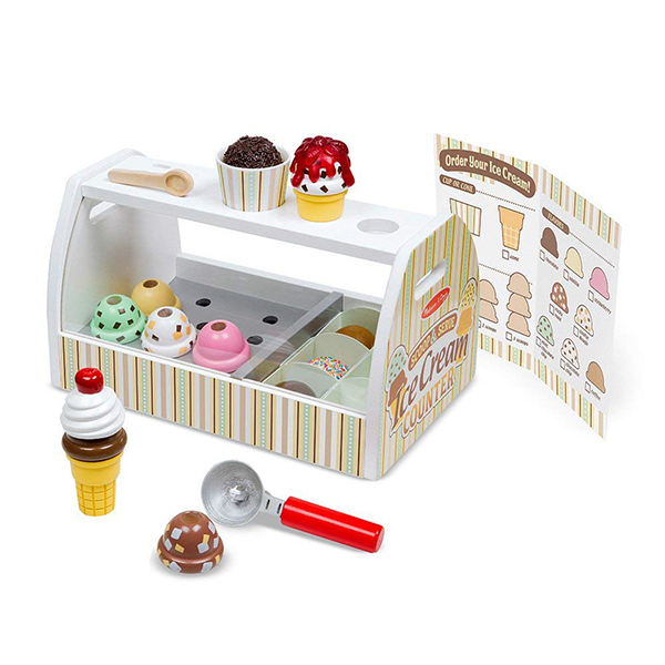 Melissa & Doug Wooden Ice Cream Counter