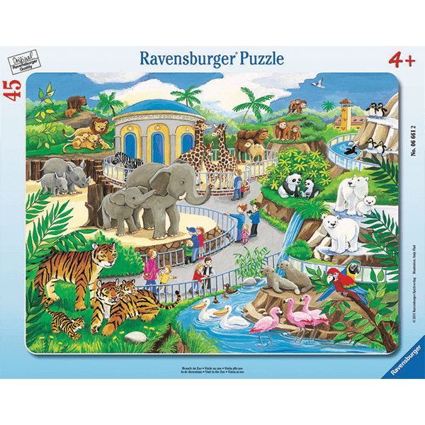 Discontinued Ravensburger Visit the Zoo 45 Piece Puzzle