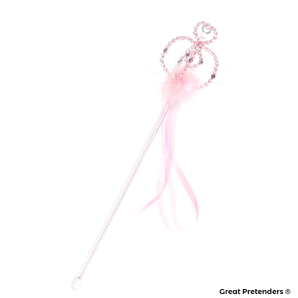 Great Pretenders Pink and Silver Princess Wand