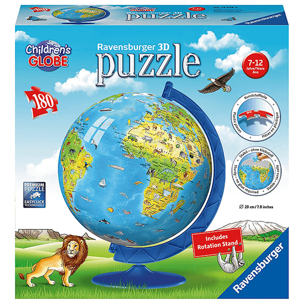 Ravensburger World Map 180PC Globe Puzzle