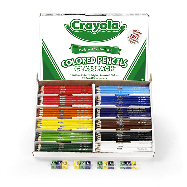 Crayola 240 Coloured Pencil Classpack with 12 Colours