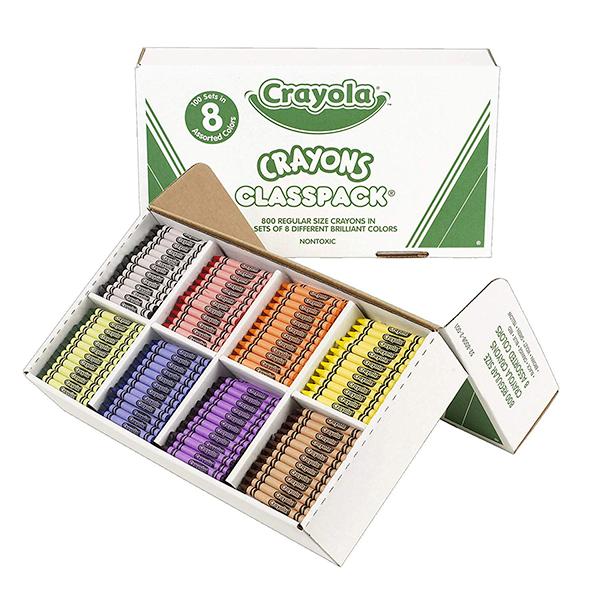 Crayola 800 Crayon Classpack of 16 Colours