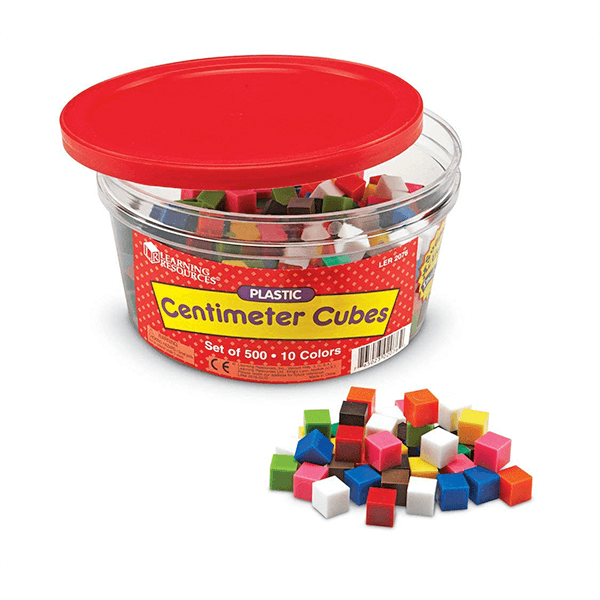 Learning Resources Centimetre Cubes 500 Pieces