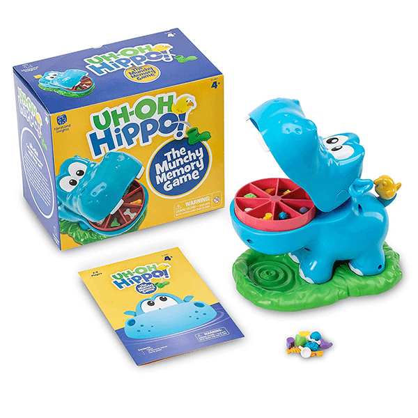 Educational Insights Uh Oh Hippo Game