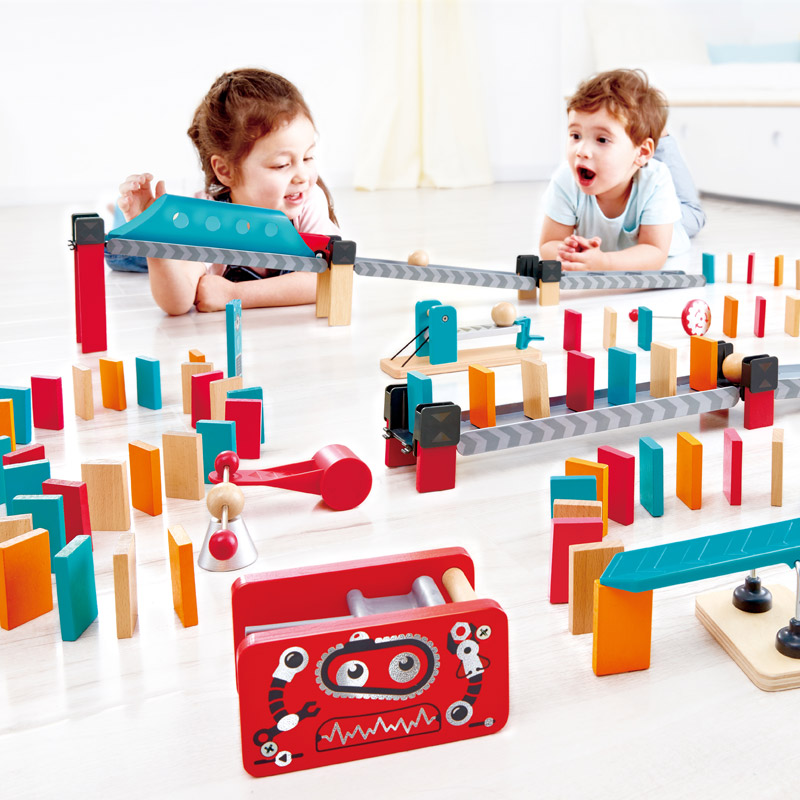 Hape Robot Factory Dominoes