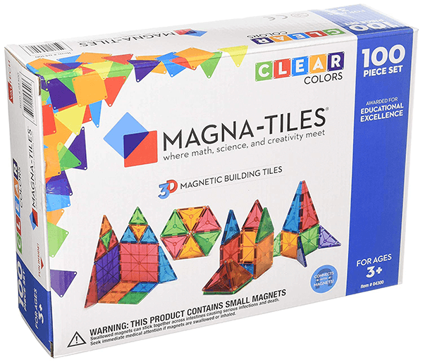 Magna Tiles Clear Colours 100 Pack