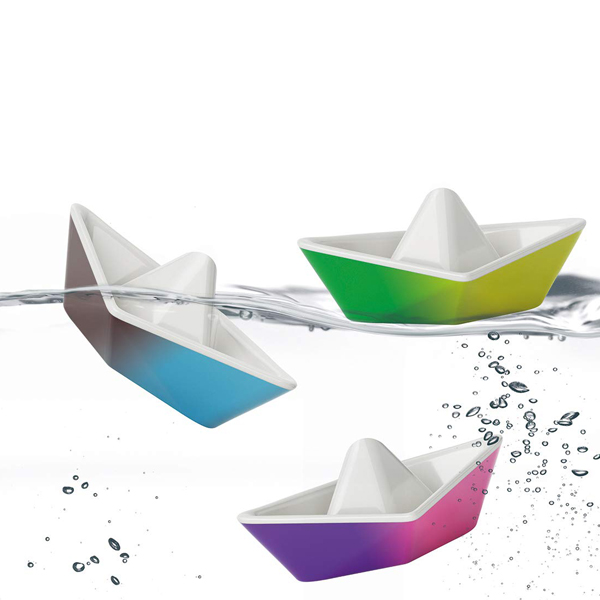 Kid O Colour-Changing Origami Boats Bath Toy Set