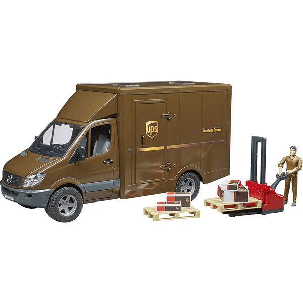 Bruder MB Sprinter UPS Truck with Driver & Accessories
