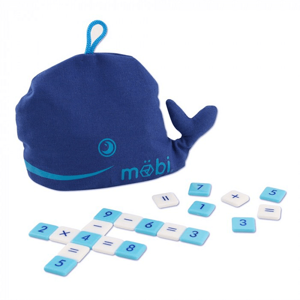 Möbi The Numerical Tile Game in a Whale Pouch