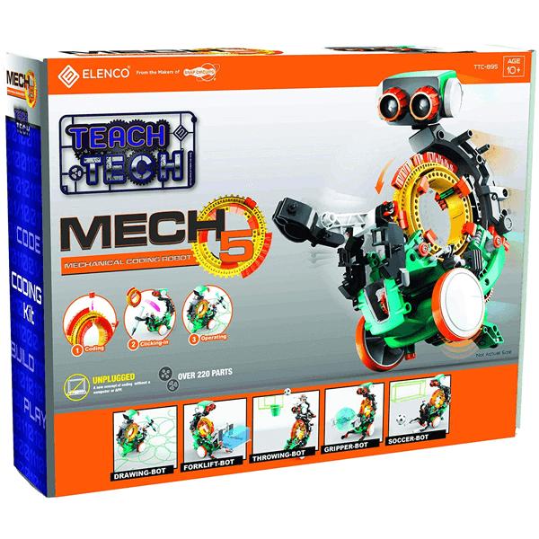 Elenco Teach Tech Mech-5 5 in 1 Mechanical Coding Robot