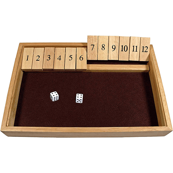 We Games Deluxe Shut The Box 13 1/2 x 9