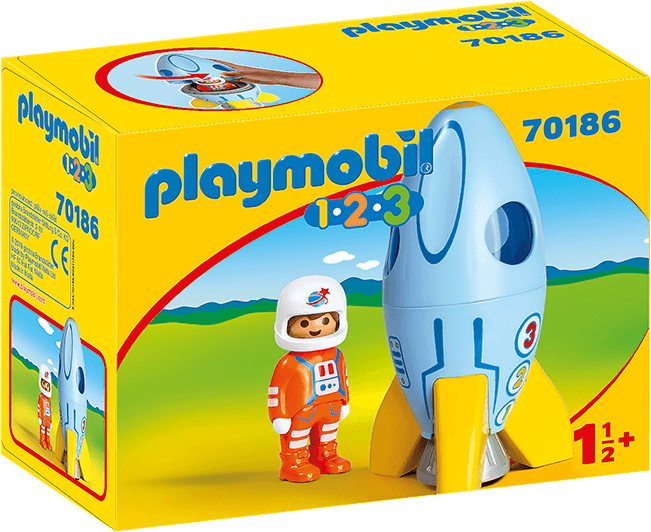 Playmobil Astronaut with rocket