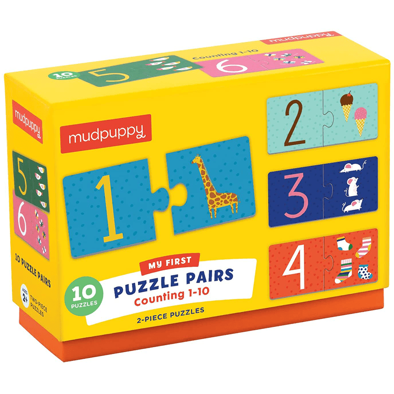 Mudpuppy My First Puzzle Pairs - Counting 1-10