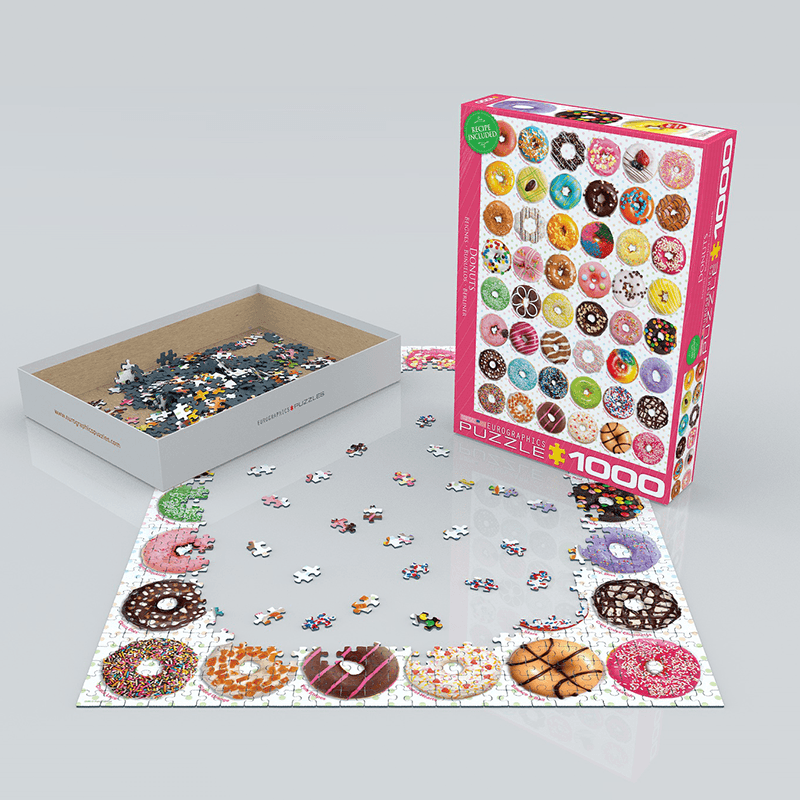 EuroGraphics Donuts Tops 1000 Piece Puzzle